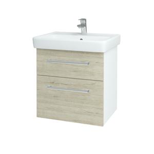 Dřevojas Koupelnová skříň Q MAX SZZ2 60 N01 Bílá lesk / Úchytka T03 / D05 Oregon 61725C