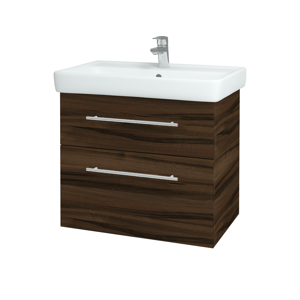 Dřevojas Koupelnová skříň Q MAX SZZ2 70 D06 Ořech / Úchytka T02 / D06 Ořech 60414B