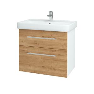 Dřevojas Koupelnová skříň Q MAX SZZ2 70 N01 Bílá lesk / Úchytka T02 / D09 Arlington 115258B