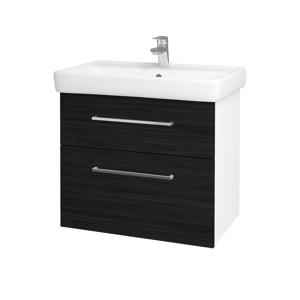 Dřevojas Koupelnová skříň Q MAX SZZ2 70 N01 Bílá lesk / Úchytka T04 / D14 Basalt 149055E
