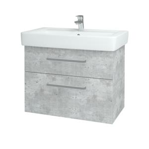 Dřevojas Koupelnová skříň Q MAX SZZ2 80 D01 Beton / Úchytka T01 / D01 Beton 67543A