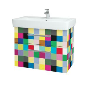 Dřevojas Koupelnová skříň Q MAX SZZ2 80 IND Individual / Úchytka T01 / IND Individual 141974A