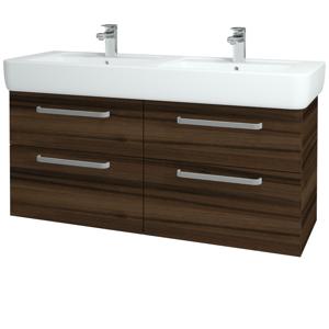 Dřevojas Koupelnová skříň Q MAX SZZ4 130 D06 Ořech / Úchytka T01 / D06 Ořech 132125A