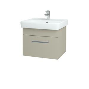 Dřevojas Koupelnová skříň Q UNO SZZ 55 L04 Béžová vysoký lesk / Úchytka T01 / L04 Béžová vysoký lesk 150518A