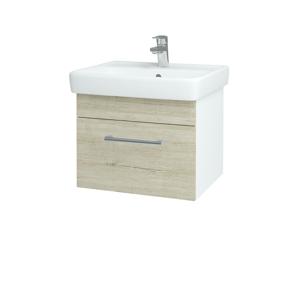 Dřevojas Koupelnová skříň Q UNO SZZ 55 N01 Bílá lesk / Úchytka T03 / D05 Oregon 20302C