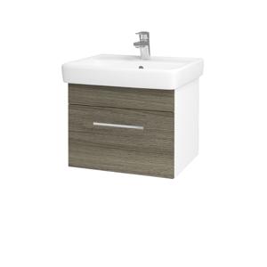 Dřevojas Koupelnová skříň Q UNO SZZ 55 N01 Bílá lesk / Úchytka T04 / D03 Cafe 20272E