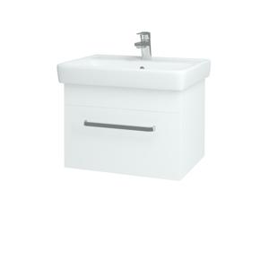 Dřevojas Koupelnová skříň Q UNO SZZ 60 N01 Bílá lesk / Úchytka T01 / L01 Bílá vysoký lesk 20012A