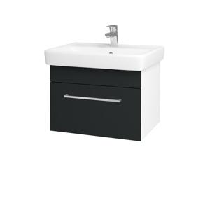 Dřevojas Koupelnová skříň Q UNO SZZ 60 N01 Bílá lesk / Úchytka T04 / L03 Antracit vysoký lesk 150624E