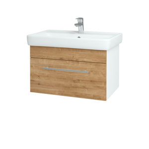 Dřevojas Koupelnová skříň Q UNO SZZ 70 N01 Bílá lesk / Úchytka T02 / D09 Arlington 150686B