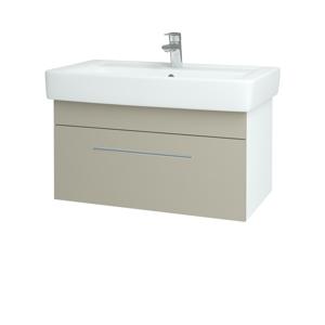 Dřevojas Koupelnová skříň Q UNO SZZ 80 N01 Bílá lesk / Úchytka T02 / L04 Béžová vysoký lesk 150914B