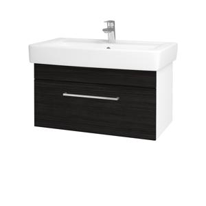 Dřevojas Koupelnová skříň Q UNO SZZ 80 N01 Bílá lesk / Úchytka T04 / D14 Basalt 150839E