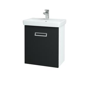 Dřevojas Koupelnová skříň SINGLE SZZ 55 N01 Bílá lesk / L03 Antracit vysoký lesk 150983