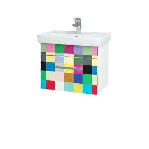 Dřevojas Koupelnová skříň SOLO SZZ 55 N01 Bílá lesk / Úchytka T01 / IND Individual 20951A