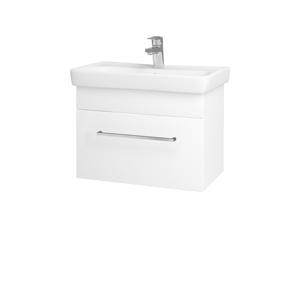 Dřevojas Koupelnová skříň SOLO SZZ 60 N01 Bílá lesk / Úchytka T04 / L01 Bílá vysoký lesk 21835E