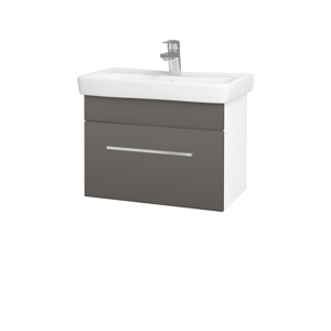 Dřevojas Koupelnová skříň SOLO SZZ 60 N01 Bílá lesk / Úchytka T04 / N06 Lava 205782E