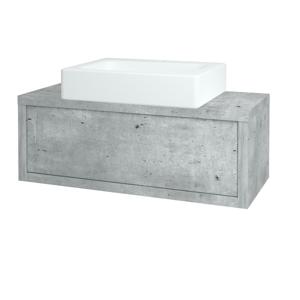 Dřevojas Koupelnová skříň STORM SZZ 100 (umyvadlo Kube) D01 Beton / D01 Beton 168346