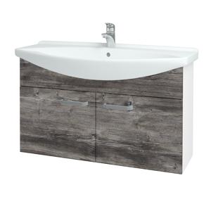 Dřevojas Koupelnová skříň TAKE IT SZD2 105 N01 Bílá lesk / Úchytka T01 / D10 Borovice Jackson 206369A