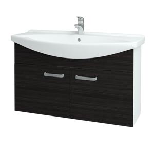 Dřevojas Koupelnová skříň TAKE IT SZD2 105 N01 Bílá lesk / Úchytka T01 / D14 Basalt 152277A