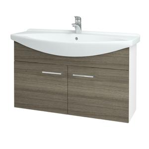 Dřevojas Koupelnová skříň TAKE IT SZD2 105 N01 Bílá lesk / Úchytka T04 / D03 Cafe 152215E