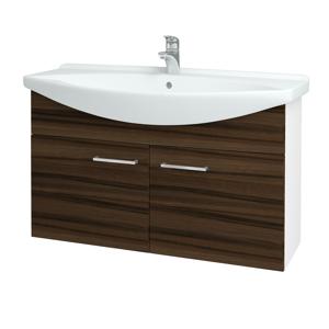 Dřevojas Koupelnová skříň TAKE IT SZD2 105 N01 Bílá lesk / Úchytka T04 / D06 Ořech 152246E
