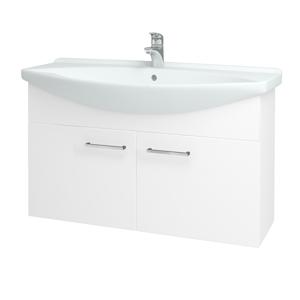 Dřevojas Koupelnová skříň TAKE IT SZD2 105 N01 Bílá lesk / Úchytka T04 / N01 Bílá lesk 133610E