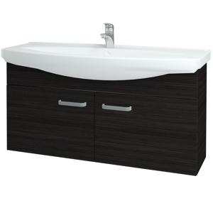 Dřevojas Koupelnová skříň TAKE IT SZD2 120 D14 Basalt / Úchytka T01 / D14 Basalt 151225A