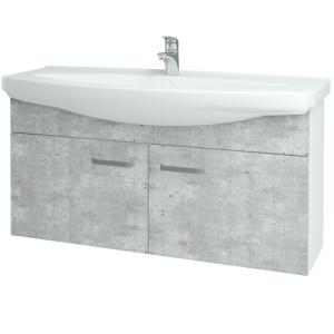 Dřevojas Koupelnová skříň TAKE IT SZD2 120 N01 Bílá lesk / Úchytka T01 / D10 Borovice Jackson 206529A