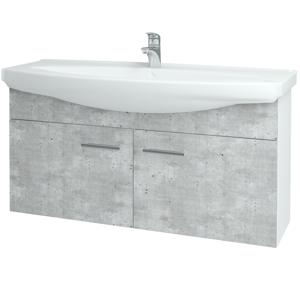 Dřevojas Koupelnová skříň TAKE IT SZD2 120 N01 Bílá lesk / Úchytka T03 / D15 Nebraska 206536C
