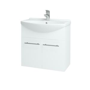 Dřevojas Koupelnová skříň TAKE IT SZD2 65 N01 Bílá lesk / Úchytka T02 / N01 Bílá lesk 133580B
