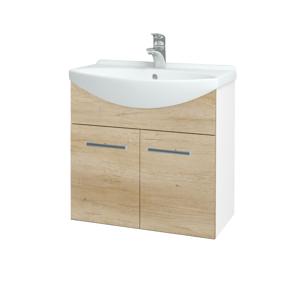 Dřevojas Koupelnová skříň TAKE IT SZD2 65 N01 Bílá lesk / Úchytka T03 / D15 Nebraska 205898C