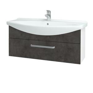Dřevojas Koupelnová skříň TAKE IT SZZ 105 N01 Bílá lesk / Úchytka T01 / D16 Beton tmavý 207182A