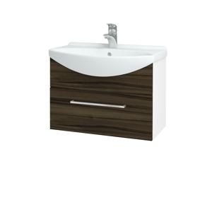 Dřevojas Koupelnová skříň TAKE IT SZZ 65 N01 Bílá lesk / Úchytka T04 / D06 Ořech 152420E