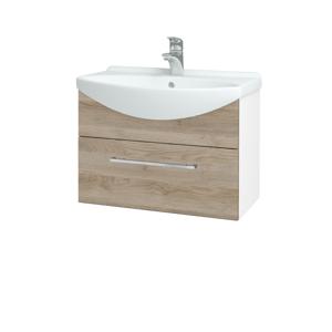 Dřevojas Koupelnová skříň TAKE IT SZZ 65 N01 Bílá lesk / Úchytka T04 / D17 Colorado 206710E