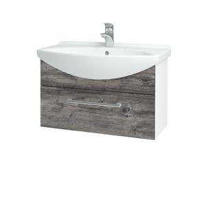 Dřevojas Koupelnová skříň TAKE IT SZZ 75 N01 Bílá lesk / Úchytka T03 / D10 Borovice Jackson 206840C
