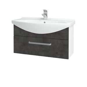 Dřevojas Koupelnová skříň TAKE IT SZZ 85 N01 Bílá lesk / Úchytka T01 / D16 Beton tmavý 207021A