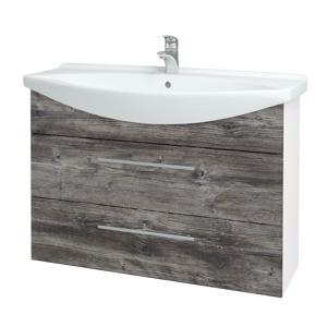 Dřevojas Koupelnová skříň TAKE IT SZZ2 105 N01 Bílá lesk / Úchytka T02 / D10 Borovice Jackson 207960B