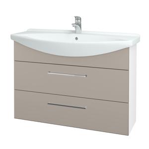 Dřevojas Koupelnová skříň TAKE IT SZZ2 105 N01 Bílá lesk / Úchytka T04 / N07 Stone 208028E