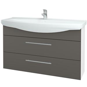 Dřevojas Koupelnová skříň TAKE IT SZZ2 120 N01 Bílá lesk / Úchytka T02 / N06 Lava 208172B