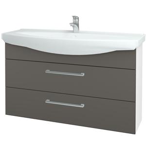 Dřevojas Koupelnová skříň TAKE IT SZZ2 120 N01 Bílá lesk / Úchytka T03 / N06 Lava 208172C