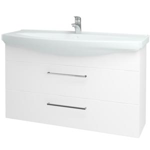 Dřevojas Koupelnová skříň TAKE IT SZZ2 120 N01 Bílá lesk / Úchytka T04 / N01 Bílá lesk 134471E