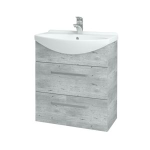 Dřevojas Koupelnová skříň TAKE IT SZZ2 65 D01 Beton / Úchytka T01 / D01 Beton 133757A