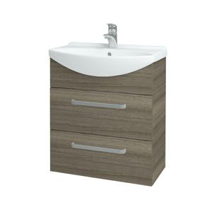 Dřevojas Koupelnová skříň TAKE IT SZZ2 65 D03 Cafe / Úchytka T01 / D03 Cafe 133771A
