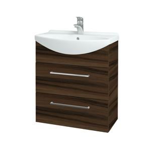 Dřevojas Koupelnová skříň TAKE IT SZZ2 65 D06 Ořech / Úchytka T04 / D06 Ořech 133795E