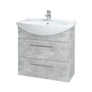 Dřevojas Koupelnová skříň TAKE IT SZZ2 75 D01 Beton / Úchytka T01 / D01 Beton 133894A