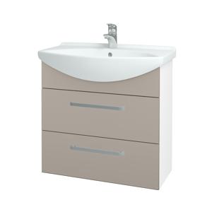 Dřevojas Koupelnová skříň TAKE IT SZZ2 75 N01 Bílá lesk / Úchytka T01 / N07 Stone 207700A