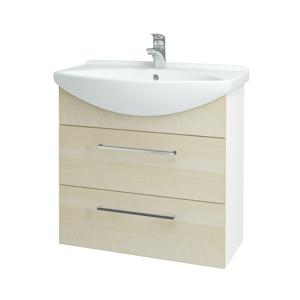 Dřevojas Koupelnová skříň TAKE IT SZZ2 75 N01 Bílá lesk / Úchytka T04 / D02 Bříza 152925E
