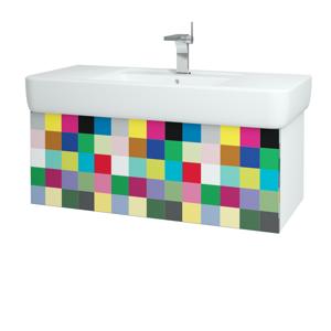 Dřevojas Koupelnová skříň VARIANTE SZZ 100 N01 Bílá lesk / IND Individual 161651
