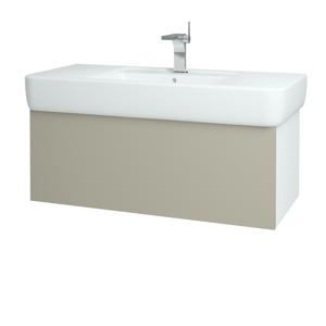 Dřevojas Koupelnová skříň VARIANTE SZZ 100 N01 Bílá lesk / L04 Béžová vysoký lesk 161682