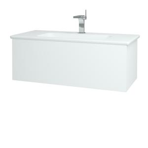 Dřevojas Koupelnová skříň VARIANTE SZZ 100 (umyvadlo Euphoria) N01 Bílá lesk / L01 Bílá vysoký lesk 160548