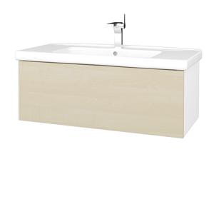 Dřevojas Koupelnová skříň VARIANTE SZZ 100 (umyvadlo Harmonia) N01 Bílá lesk / D02 Bříza 192730